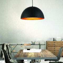 AZzardo Modena 40 Black/Gold - Pendant - AZZardo-lighting.co.uk