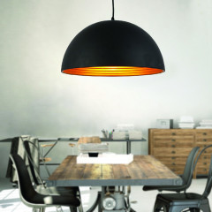 AZzardo Modena 50 Black/Gold - Pendant - AZZardo-lighting.co.uk