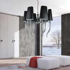 AZzardo Diablo 6 Big Black - Pendant - AZZardo-lighting.co.uk