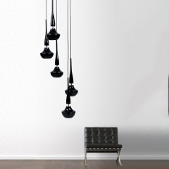AZzardo Tasos 5 Black Edition - Pendant - AZZardo-lighting.co.uk