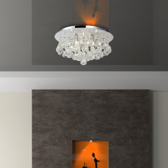 AZzardo Bolla 38 Crystal Chrome - Ceiling - AZZardo-lighting.co.uk