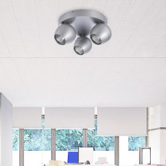 AZzardo Pera 3 Alu Round - Ceiling - AZZardo-lighting.co.uk