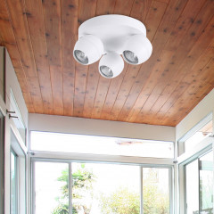 AZzardo Pera 3 White Round - Ceiling - AZZardo-lighting.co.uk