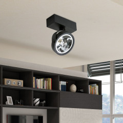 AZzardo Jerry 1 Black 12V - Ceiling - AZZardo-lighting.co.uk
