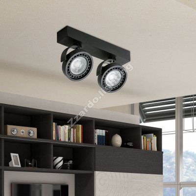 AZzardo Jerry 2 Black LED  - Ceiling