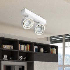 AZzardo Jerry 2 White LED - Ceiling - AZZardo-lighting.co.uk