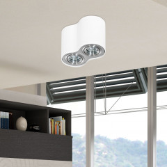 AZzardo Bross 2 WH/ALU - Ceiling - AZZardo-lighting.co.uk