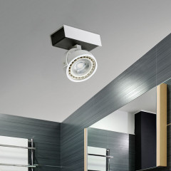 AZzardo Max 1 White/Black LED - Ceiling - AZZardo-lighting.co.uk