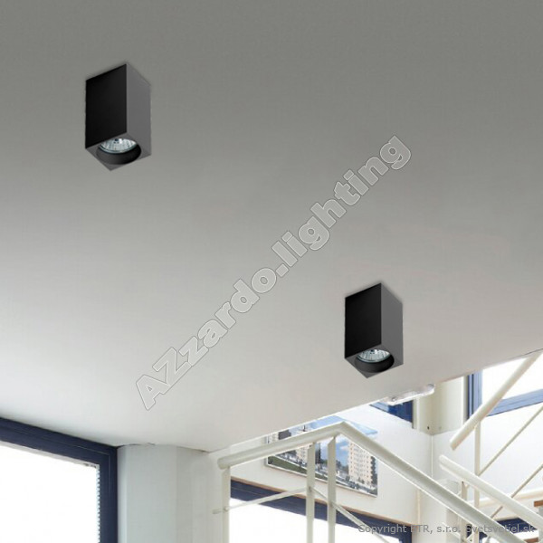 AZzardo Mini Square Black - Ceiling