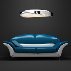 AZzardo Circulo 58 Chrome - Pendant - AZZardo-lighting.co.uk