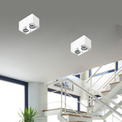 AZzardo Nino 2 White - Ceiling - AZZardo-lighting.co.uk