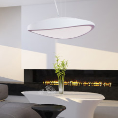AZzardo Circulo 48 White  - Pendant - AZZardo-lighting.co.uk