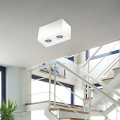 AZzardo Eloy 2 White/White - Ceiling - AZZardo-lighting.co.uk