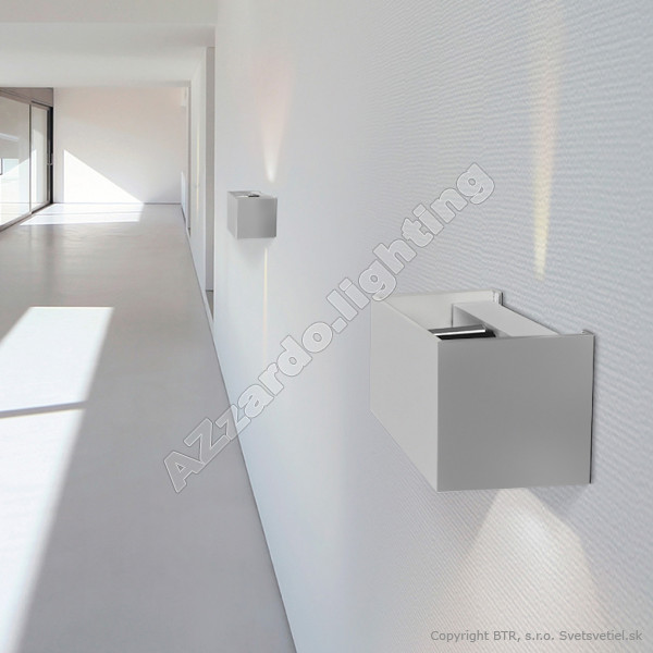 AZzardo Gambino Bright Gray LED - Wall lights