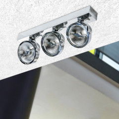 AZzardo Jerry 3 Chrome 12V - Technical surface mounted - AZZardo-lighting.co.uk