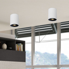 AZzardo Bross 1 White/Black - Ceiling - AZZardo-lighting.co.uk