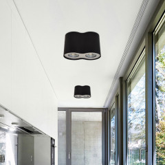 AZzardo Neos 2 Black - Ceiling - AZZardo-lighting.co.uk