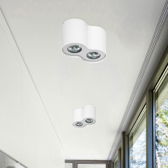 AZzardo Neos 2 White - Ceiling - AZZardo-lighting.co.uk