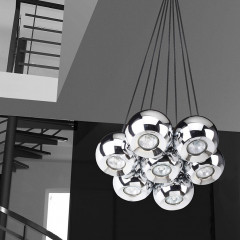 AZzardo Gulia 7 Chrome - Pendant - AZZardo-lighting.co.uk