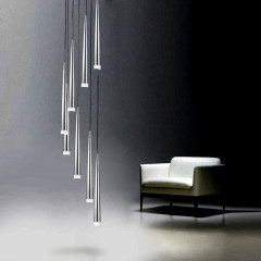 AZzardo Stylo 8 Chrome - Pendant - AZZardo-lighting.co.uk