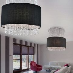 AZzardo Glamour Black Round - Pendant - AZZardo-lighting.co.uk