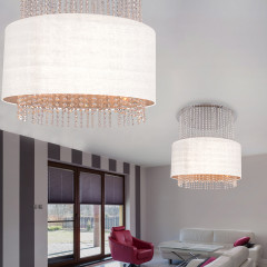 AZzardo Glamour White Round - Pendant - AZZardo-lighting.co.uk