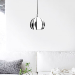 AZzardo Noa Chrome/White One - Pendant - AZZardo-lighting.co.uk