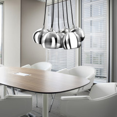AZzardo Noa Chrome/White - Pendant - AZZardo-lighting.co.uk