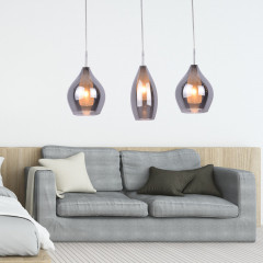 AZzardo Milano Amber 3 Chrome - Grape style - AZZardo-lighting.co.uk
