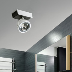 AZzardo Max 1 White/Black 230V - Ceiling - AZZardo-lighting.co.uk