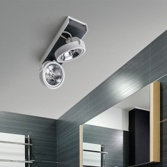 AZzardo Max 2 White/Black 230V - Ceiling - AZZardo-lighting.co.uk