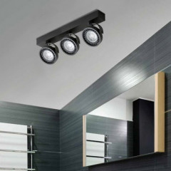 AZzardo Jerry 3 Black LED - Technical surface mounted - AZZardo-lighting.co.uk