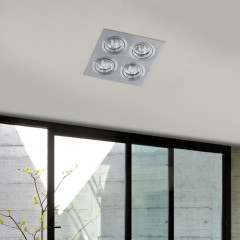 AZzardo Caro 4 Square Aluminium - Spot lights - AZZardo-lighting.co.uk