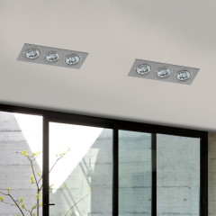 AZzardo Caro 3 Square Aluminium  - Spot lights - AZZardo-lighting.co.uk