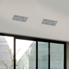 AZzardo Caro 2 Square Aluminium - Spot lights - AZZardo-lighting.co.uk