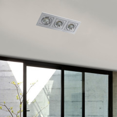AZzardo Paco 3 Aluminium - Ceiling - AZZardo-lighting.co.uk