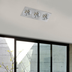 AZzardo Siro 3 Aluminium - Ceiling - AZZardo-lighting.co.uk