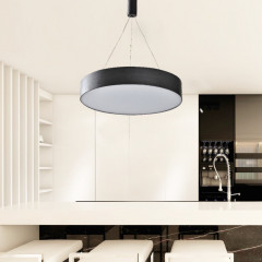 AZzardo Monza R 40 3000K Black - pendant - Technical style - AZZardo-lighting.co.uk