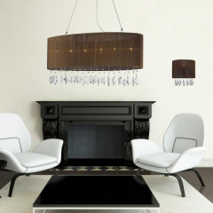 AZzardo Sidney 2 Brown Eclipse - Pendant - AZZardo-lighting.co.uk