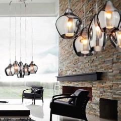 AZzardo Milano Amber Chrome - Pendant - AZZardo-lighting.co.uk