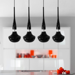 AZzardo Tasos 4 Black Edition - Pendant - AZZardo-lighting.co.uk