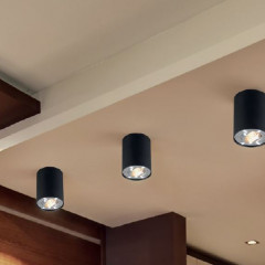 AZzardo Bross 1 BK/ALU - Ceiling - AZZardo-lighting.co.uk