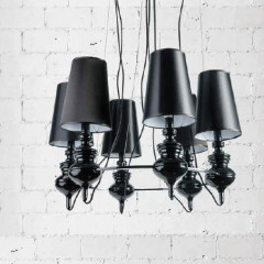 AZzardo Baroco 6 Black - Pendant - AZZardo-lighting.co.uk