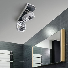 AZzardo Max 2 White/Black 12V - Ceiling