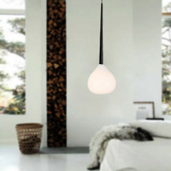 AZzardo Aga 1 White - Pendant - AZZardo-lighting.co.uk