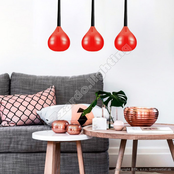 AZzardo Aga 3 Red - Pendant
