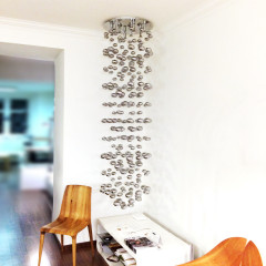 AZzardo Luvia XXL Chrome - Ceiling - AZZardo-lighting.co.uk